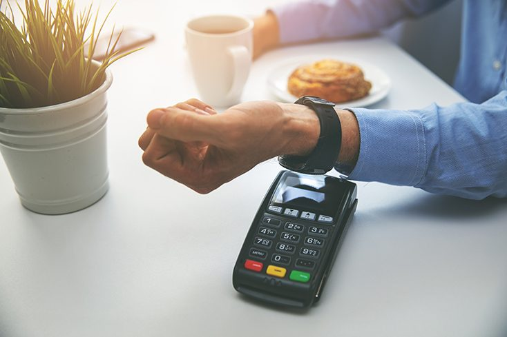 contactless payment with watch